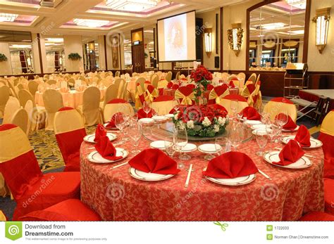 Dinner Party Table Setting by Table Setting In Wedding Banquet Stock Image Image 1722033