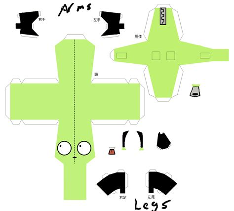 Papercraft Pattern - gir papercraft by shintakukagami on deviantart