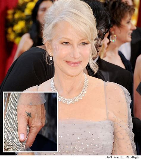 helen mirren tattoo helen mirren disgusted by drunken popeater