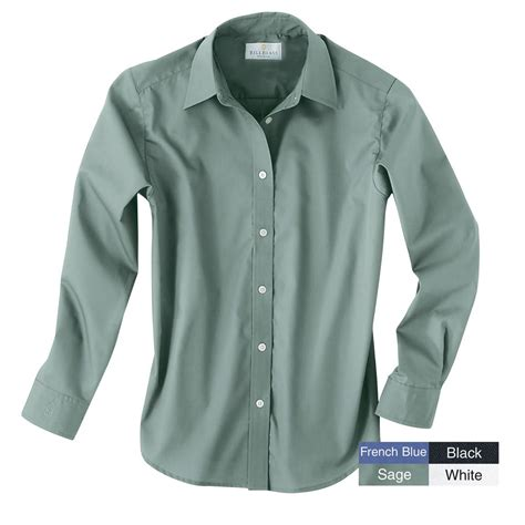 womens dress shirts women s bill blass 174 wrinkle free poplin dress shirt