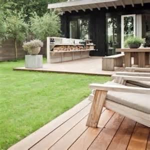 low deck cool wood storage landscape pinterest