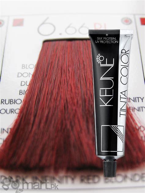 keune tinta color dark infinity red blonde ri  hair