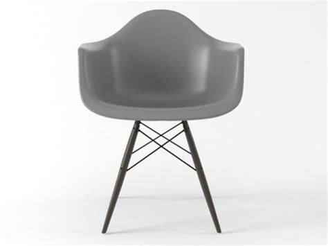 eames plastic armchair daw eames plastic armchair daw 3d model vitra