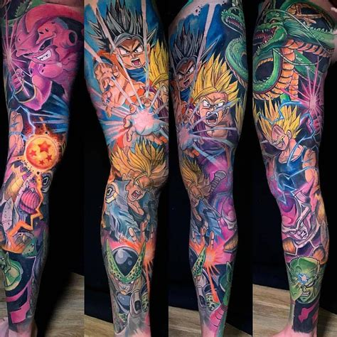dragon ball z tattoo sleeve 10 5k likes 250 comments tattoosnob tattoosnob on