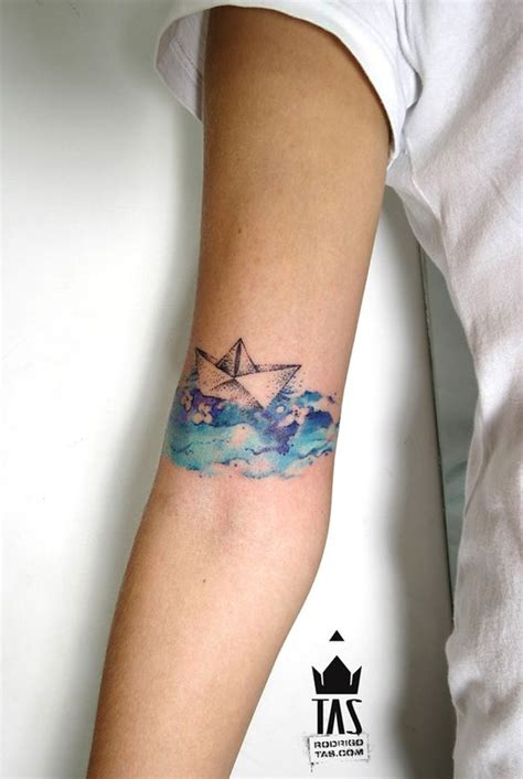 origami boat tattoo 30 astonishing origami tattoo designs amazing tattoo ideas
