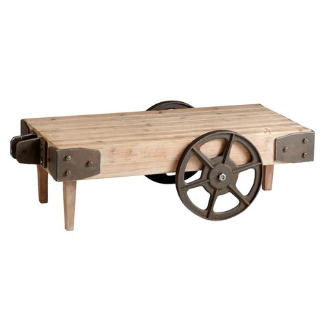 wilcox industrial rustic wagon cart coffee table kathy