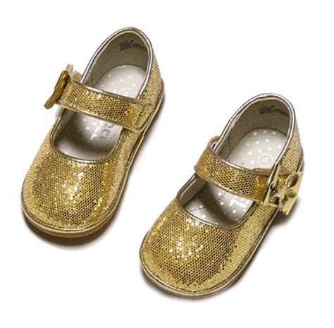 gold shoes baby baby toddler gold glitter shoes with bow