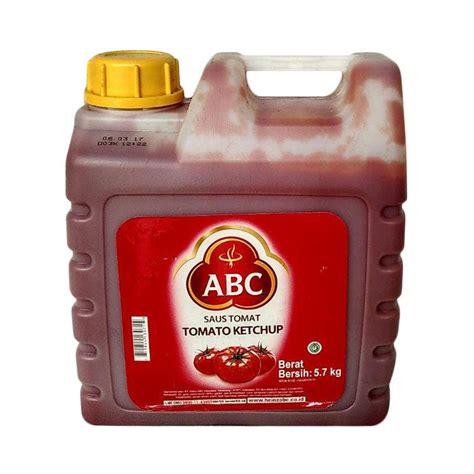 Abc Sambal Jerigen 5 7 Kg jual abc saos tomat 5 7 kg harga kualitas