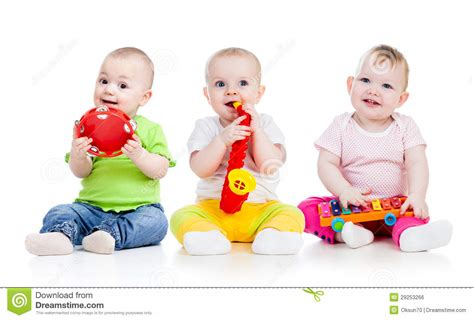 Play Musical Baby children babies play musical toys stock photo image of