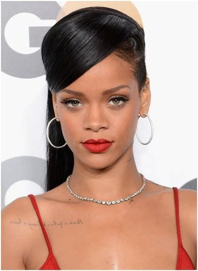 hairstyles for straight hair ponytail pretty classic straight ponytail hairstyles rihanna long