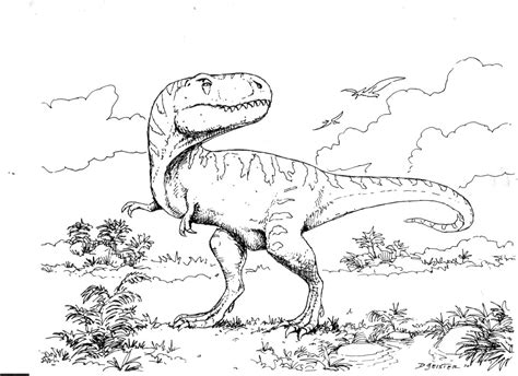 free coloring pages of dinosaurus rex