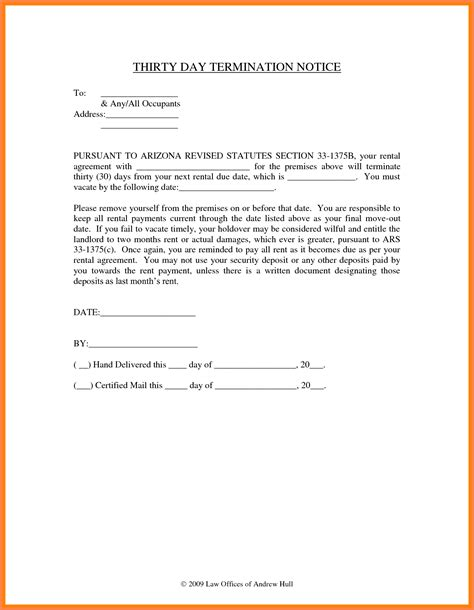 9 notice to vacate letter to landlord second notice letter