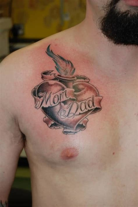 simple chest tattoos ideas and designs