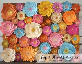 paper flowers wall