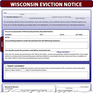 sle eviction notice wisconsin wisconsin eviction notice
