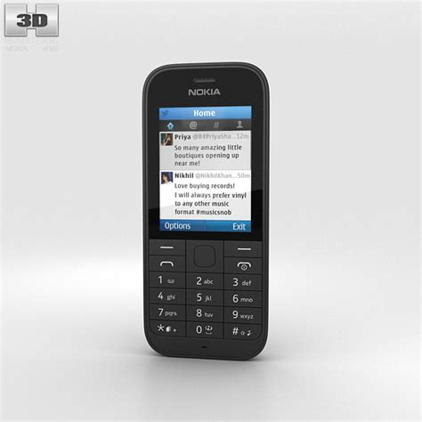 Www Hp Nokia 220 nokia 220 black 3d model humster3d
