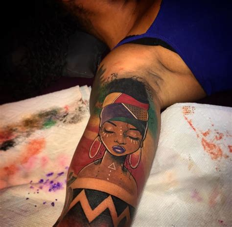 tattoo of africa american tattoos the of africa