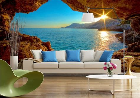 tv backdrop modern space  sea views  room