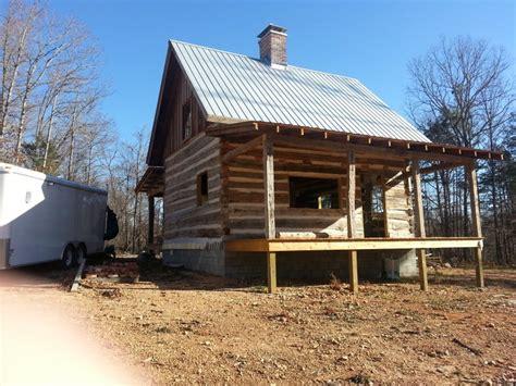 Log Cabin Floors antique log cabin project nearing completion ozark