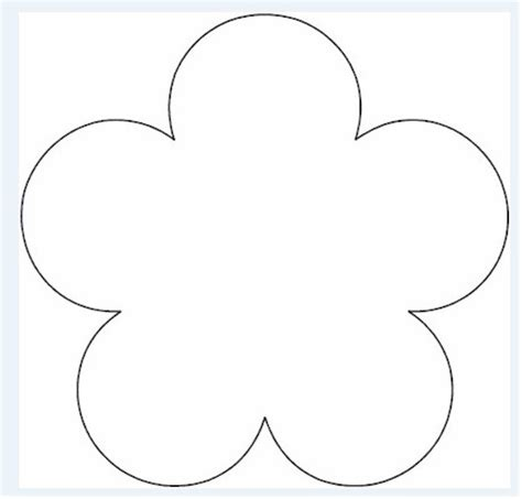 printable flower template flower pattern template clipart best