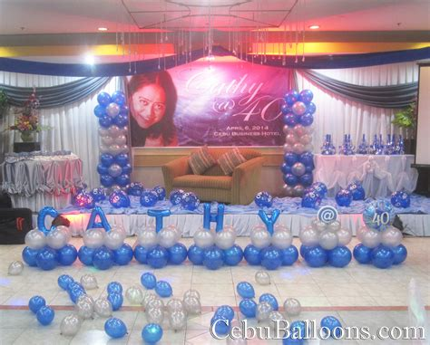 home decor party business balloon decoration 40th birthday cebu business hotel