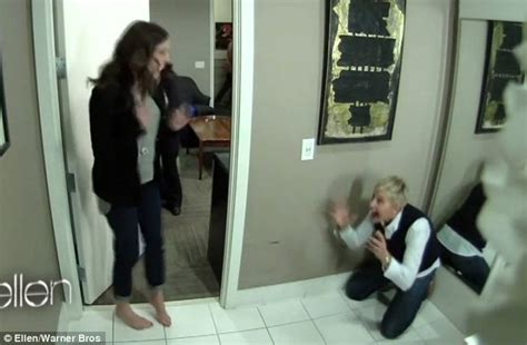 bathroom in her pants evil queen julia roberts jumps out of her skin after getting pranked on ellen