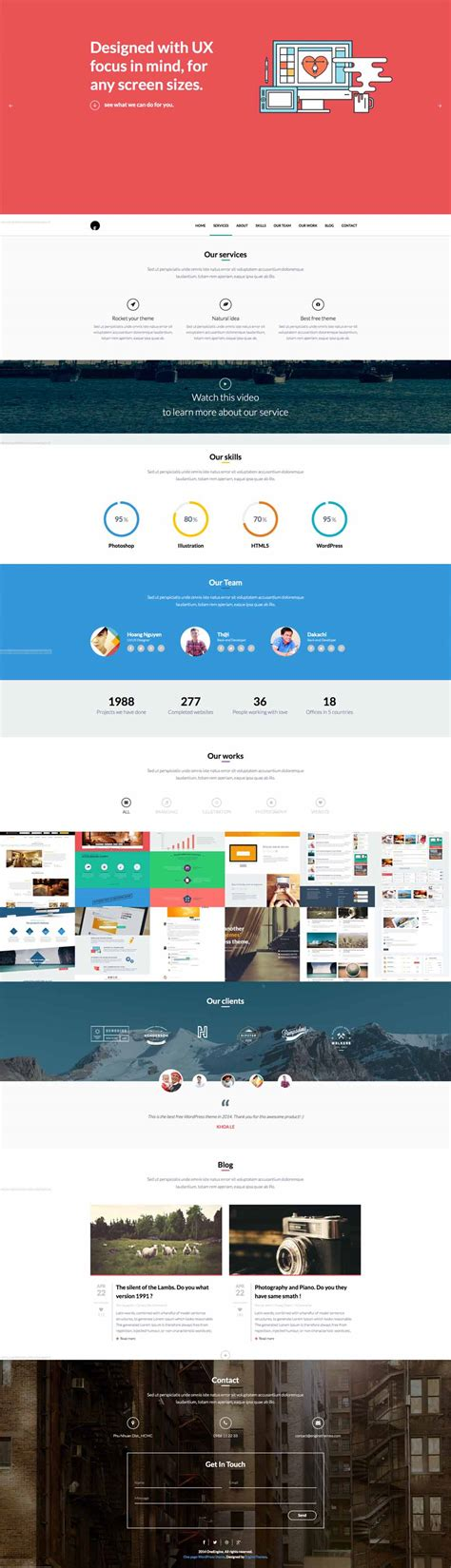 theme wordpress free responsive one page best free wordpress themes responsive themes of 2014