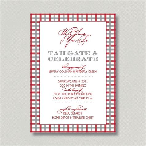Come With Me Tailgate Ae Invites by 1000 Images About Tailgate Shower On