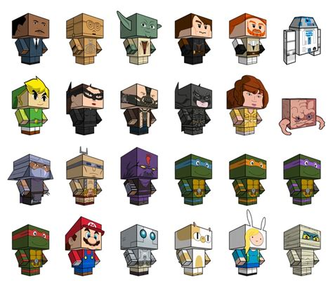 Papercraft Characters - dozens and dozens of free printable papercraft toys