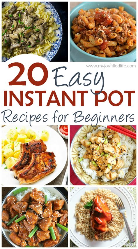 instant pot cookbook for beginner easy and delicious recipes for instant pot newbies with complete how to guide to electric pressure cooking books 20 easy instant pot recipes for beginners my filled