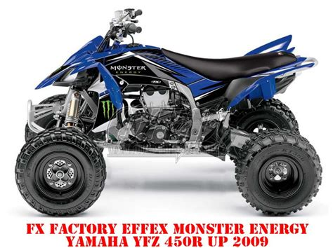 Yamaha Yfz 450 Aufkleber by Fx Effex Factory Yamaha Yfz 450r Ab 2009 Monster Energy
