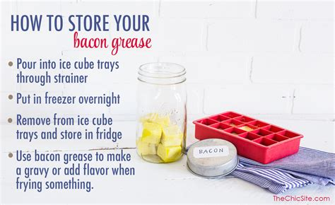 How To Store Your Bacon Grease   The Chic Site