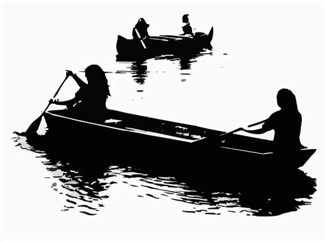 canoes vector free vector graphic canoes boats paddling free image