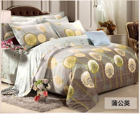 Dandelion Duvet Luxury Egyptian Cotton Bedding Set Yellow Dandelion Fitted