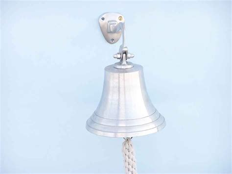 nautical home decor wholesale buy brushed nickel hanging ship s bell 9 inch wholesale