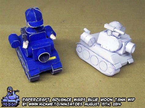 Advance Wars Papercraft - papercraft advance wars blue moon tank wip5 by