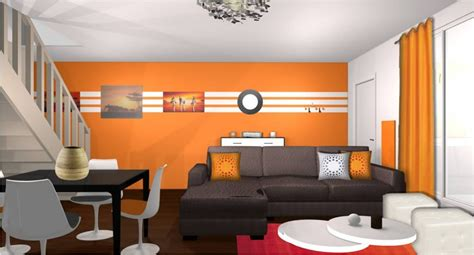 Charmant Idee De Deco Salle De Bain #7: photo-decoration-deco-salon-orange-3-1024x553.jpg