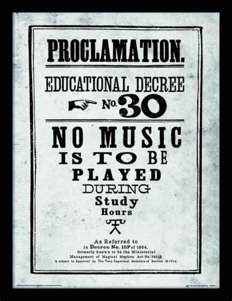 Plakat Harry Potter by Harry Potter Proclamation R 225 Movan 253 Obraz Na Zeď Posters Cz