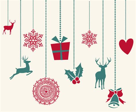 14 free vector christmas decorations images free vector