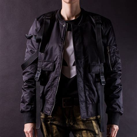 Bomber Parasut M parachute bomber jacket black sizes m l xl laticci