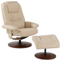 parrish leather recliner and ottoman taupe contemporary