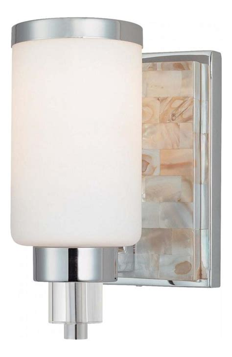 bathroom sconce height minka lavery chrome with natural shell 1 light 7 75in