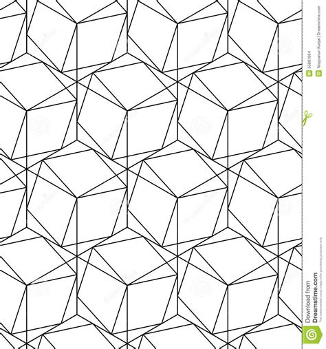 pattern lines eps black and white geometric seamless pattern with line and