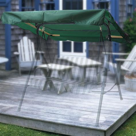 Patio Swing Green 75 X 52 Outdoor Swing Canopy Top Replacement Cover Garden