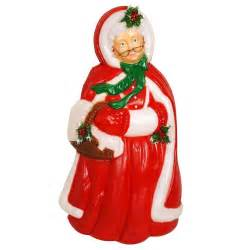 christmas blow mold yard decoration mrs santa claus plastic light up holiday ebay