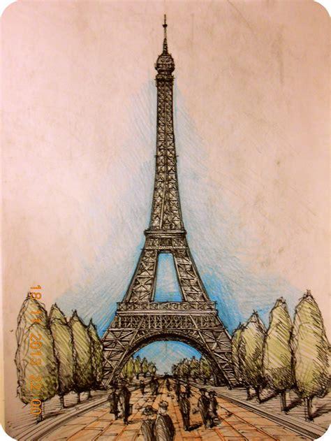 Eiffel In pencil sketch of eiffel tower www pixshark images