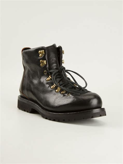 buttero boots buttero hiking style boots in black for lyst