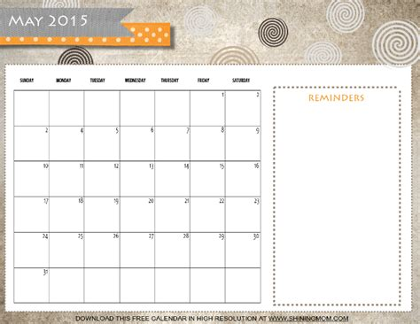 printable planner may 2015 8 refreshing designs free printable may 2015 calendars