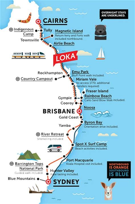 australia east coast map loka pass in australia kilroy