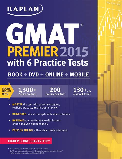 Kaplan Mba Prep by Kaplan Gmat Premier 2015 With 6 Practice Tests Book Dvd